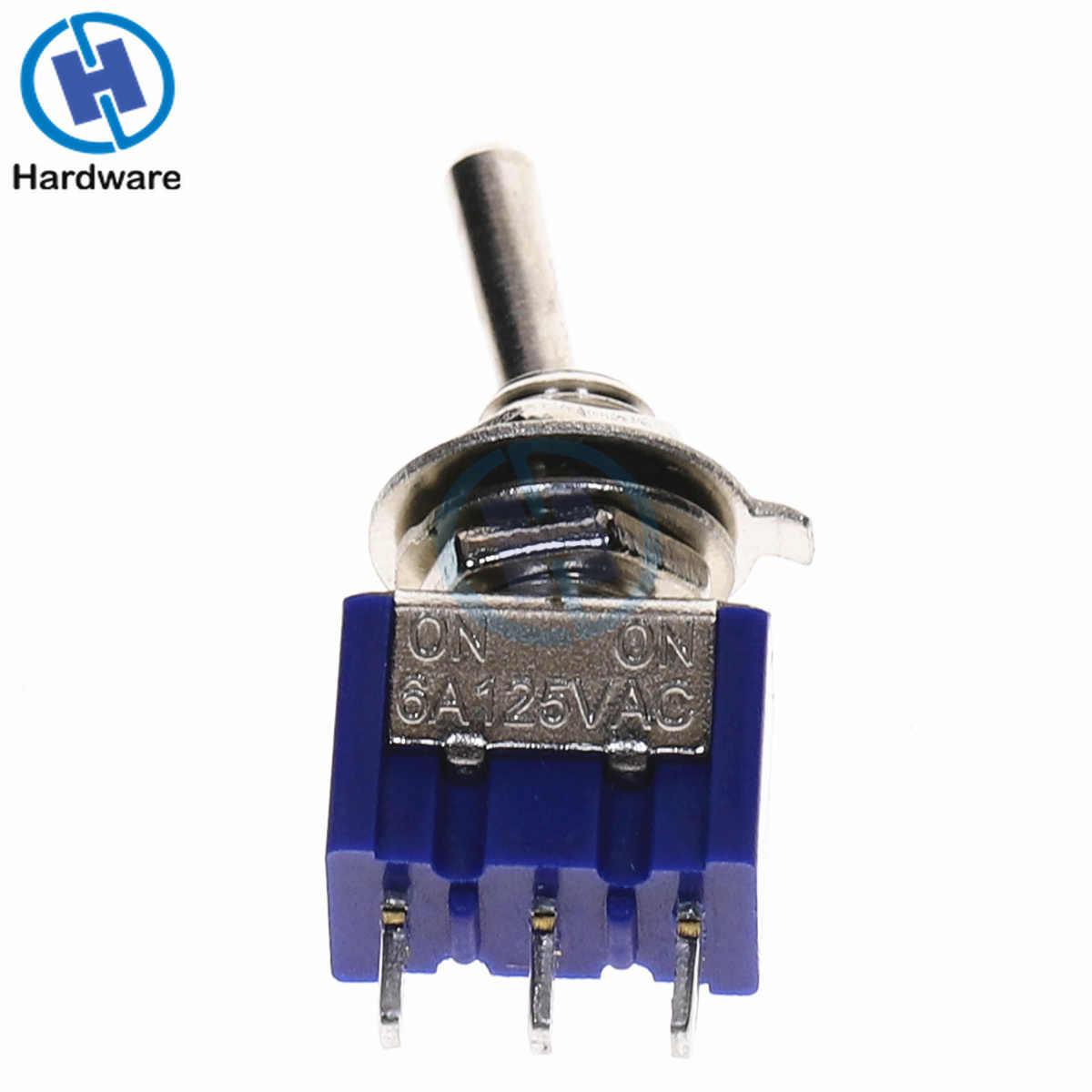 10 PC/5 PC interrupteur à bascule Miniature unipolaire Double jet SPDT (MTS102) sur-ON 120VAC 6A 1/4 pouces MTS-102 de montage