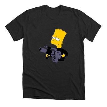 Bart Simpson Cool 100% Cotton Best T-shirt  Unisex Summer Top 1