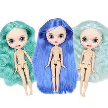 Кукла блайз фабричного производства ICY, шарнирная кукла с белой кожей, с матовым лицом и зубами, без одежды, на заказ, 30 см