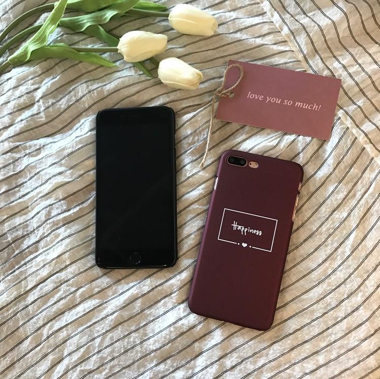 Için iPhone11 Pro Max Xr X XS Max Case için iPhone 7 6 6s 8 artı telefon koruyucu kapak apple iphone mektup siyah telefon kılıfı