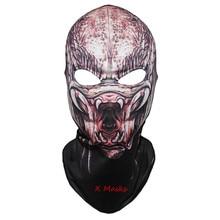 Маска хищника костюм-Балаклава Хэллоуин накладной вызов шлем открытый байкерские маски аноним езда дети герой duty