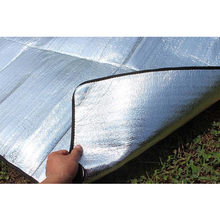 New Waterproof Aluminum Foil Camping Mat Foldable Folding Sleeping Picnic Beach Mattress Outdoor Mat Pad high quality hot A3083(China)