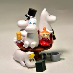 Image 2 - دمية لغز المتتالية مومين الأسرة Jenga طبقة مايكرو لتقوم بها بنفسك المشهد بك نموذج للأطفال هدايا عيد الميلاد