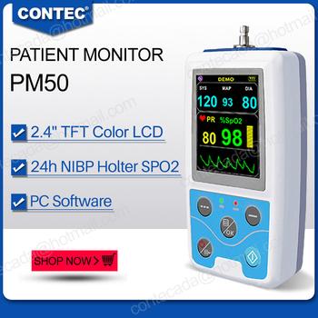 2020 CONTEC przenośne funkcje życiowe Monitor pacjenta NIBP SpO2 Pr bezpłatne oprogramowanie komputerowe tanie i dobre opinie Chin kontynentalnych Ciśnienie krwi PM50 Palec