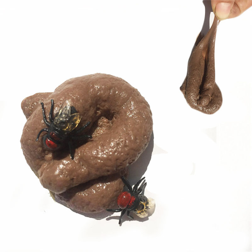 Funny Toys Fake Poop Realistic Shit Piece Prank Antistress Gadget Squish Toys Joke Tricky Toys Turd Mischief Holloween Gift