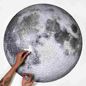 The Moon And Earth Puzzle 1000 Pieces Difficult For Adult Jigsaw Puzzle Toys Educational Toys Kids Gifts 1000pcs The Moon Puzzle