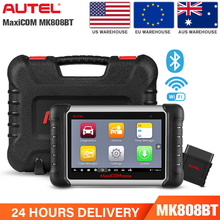 Autel Scanner MaxiCOM MK808BT OBD2 Scanner Diagnostic Tool,with MaxiVCI Supports Full System Diagnosis & IMMO/EPB/SAS/BMS/TPMS/ autel maxitpms ts401 tpms diagnostic and service tool pre selection process offer faster activation and diagnostics