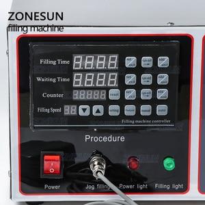 Image 2 - ZONESUN GZ GFK17A חצי אוטומטי מילוי מכונת כביסה בישול שמן מים מיץ אלכוהול חלב נוזלי בקבוק מילוי מכונה