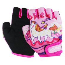 1 пара, детские дышащие спортивные перчатки с половинным пальцем, противоскользящие для катания на роликах, скутеры, горный велосипед