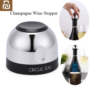 Image 1 - מעגל שמחה נוצץ יין מיני שמפניה מיני פקק יין פקק סיבובי מנעול DesignVacuum יעיל שימור