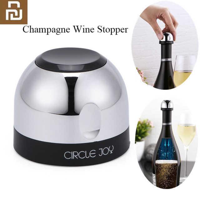cercle joie vin mousseux mini bouchon de champagne mini bouchon de vin design de verrouillage rotatif conservation efficace sous vide