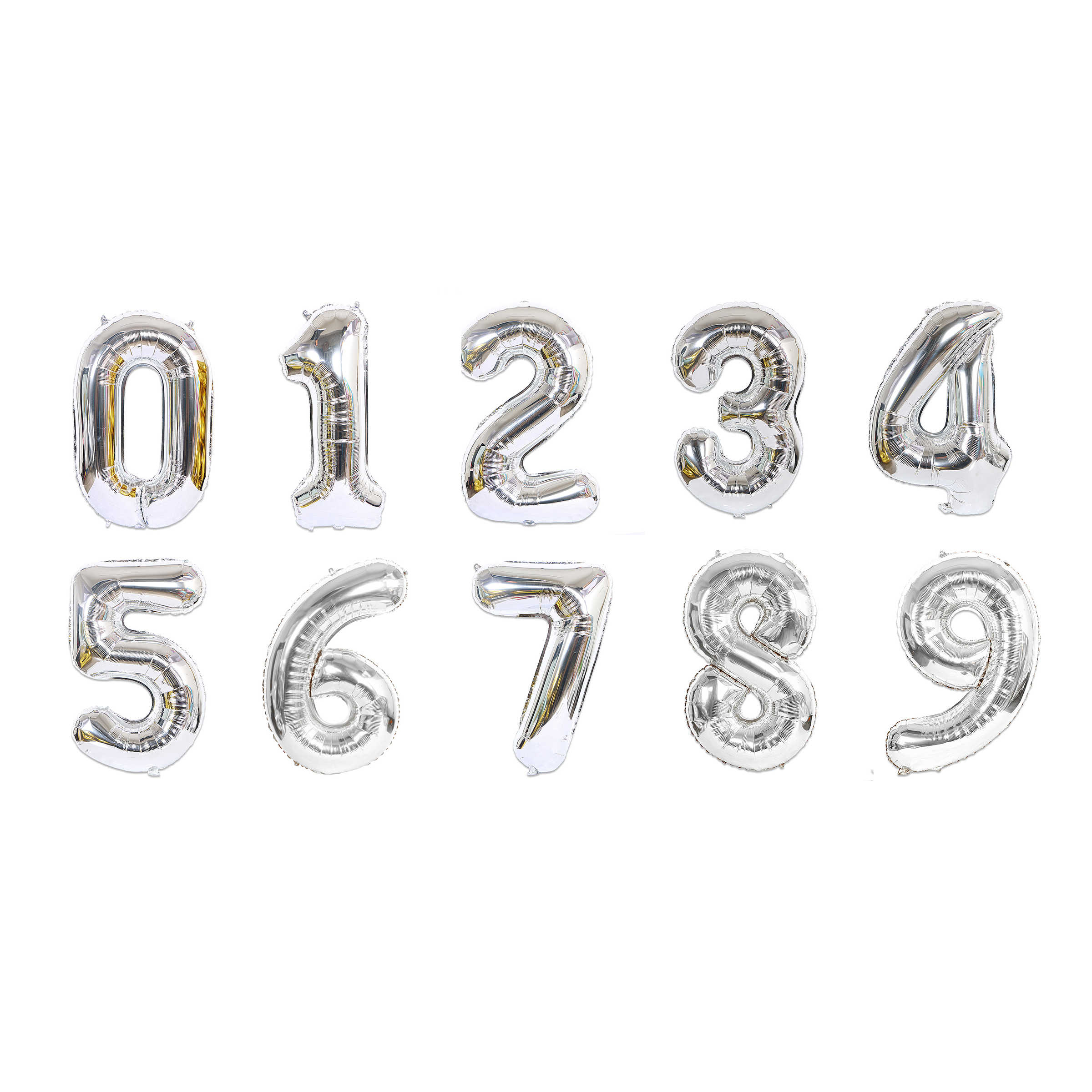 1pc 40 inch Rose Gold Silver Aluminium Foil Number Balloons 0-9 Birthday Wedding Engagement Party Decor Globos Kids Ball Supplie