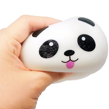 2020 New Fashion Funny Squishy Ball Slow Rising Kids Toys Panda Dog Face Stress Reliever Squeeze Toys Collection Gift For Kids(China)