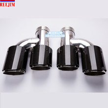 ID 63mm (2.5) OD 89mm (3.5) dual Stainless Steel Akrapovic Carbon Fiber Car Exhaust Tip