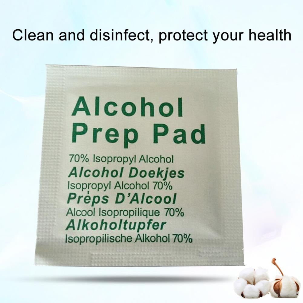 Portable Alcohol Prep Pad Swabs Pads Wet Wipes Cleanser Wipes First Effective Aid Disinfection Sterilization Makeup Cleanin F2T9