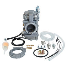 Motorcycle 42mm Carb Carburetor Kit For Harley EVO Evolution Twin Cam Fitting Wide Glide Sport Glide Dyna Low Rider Accessories(China)