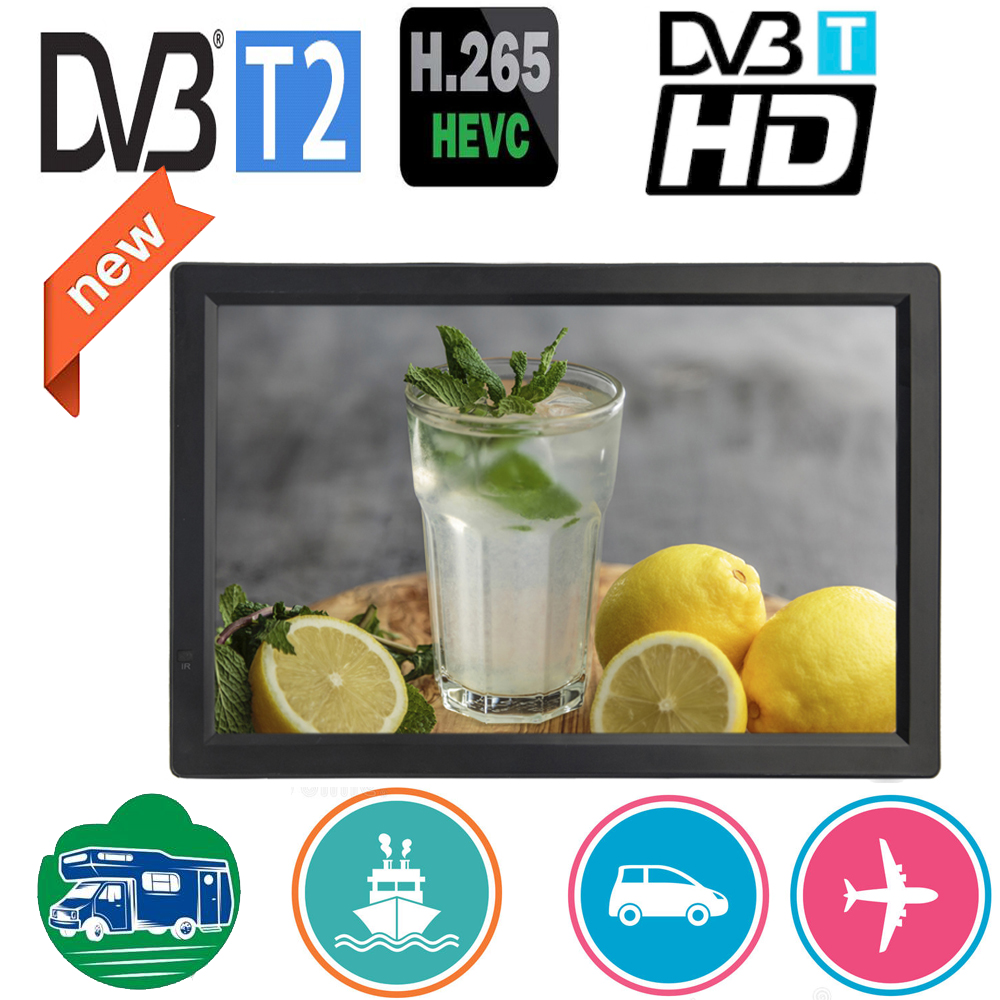 LEADSTAR D14 14 inch HD Portable Mini TV Built in DVB-T2 Digital Tuner Full Compatible With DVB T2/H265/Hevc/Dolby AC3 DVBT H264 image