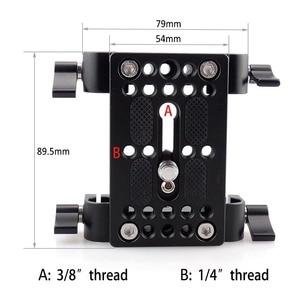 Image 2 - Piastra di montaggio per treppiede con piastra di montaggio a sgancio rapido per fotocamera con morsetto per asta da 15mm per supporto asta DSLR Rig per fotocamera