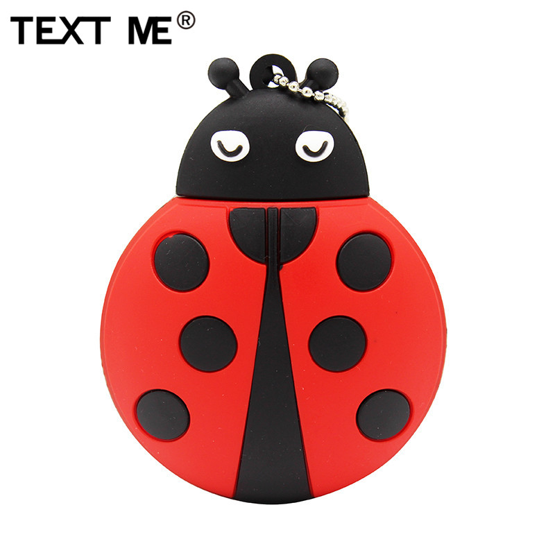 TEXT ME Beautiful Cartoon Beetle Model Usb2.0 4GB 8GB 16GB 32GB 64GB Pen Drive USB Flash Drive Creative Gifty Stick Pendrive