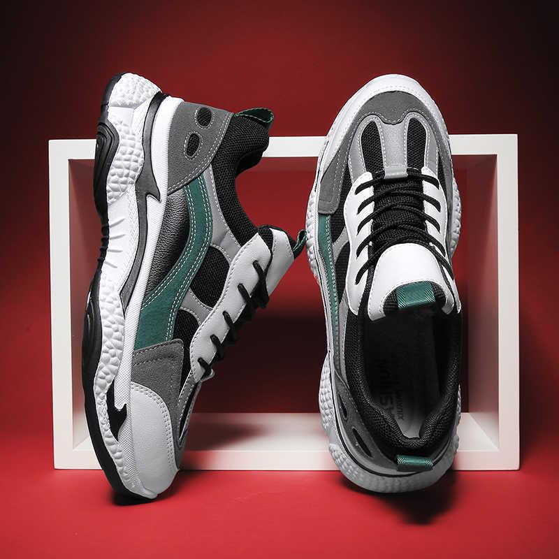 VastWave wiosna Micrifiber Mesh mężczyźni obuwie moda mężczyźni mocne buty buty mężczyźni tata buty mężczyźni oddychające sportowe