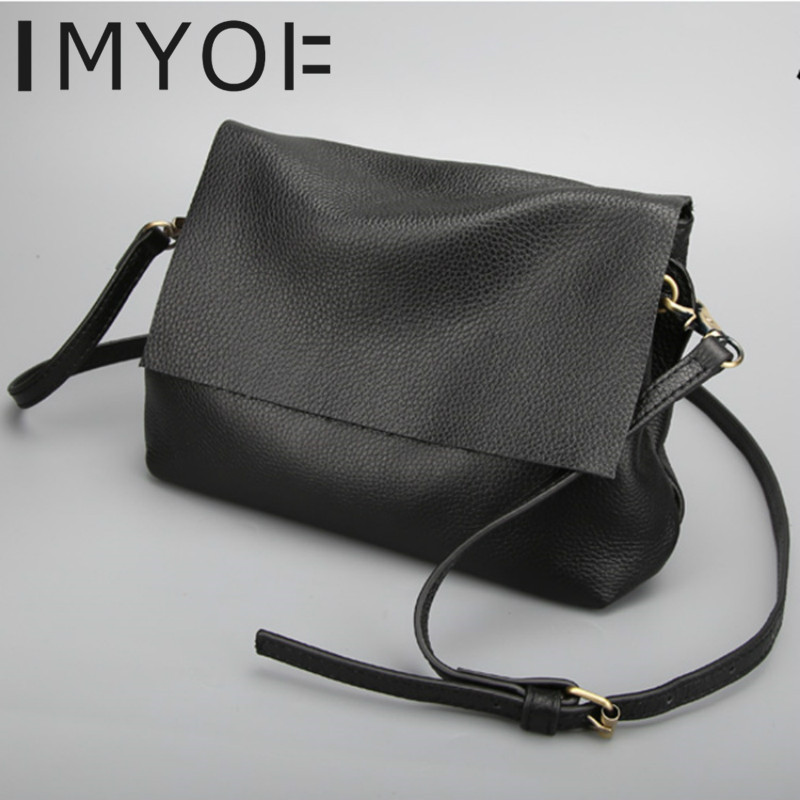 IMYOK 2019 Bags For Women New Single Shoulder Messenger Bags Personality Genuine Leather Ladies Bags High Quality Designer Hobos