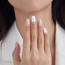 SILVERHOO, кольца из стерлингового серебра 925 пробы для женщин, милые циркониевые круглые геометрические Свадебные Кольца из серебра 925 пробы, Из...
