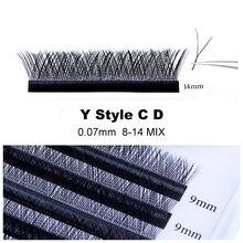 Объемные Накладные ресницы CD Curl 0,07 мм 8-14 мм YY индивидуальные матовые накладные ресницы из искусственной норки(YY-C-13MM