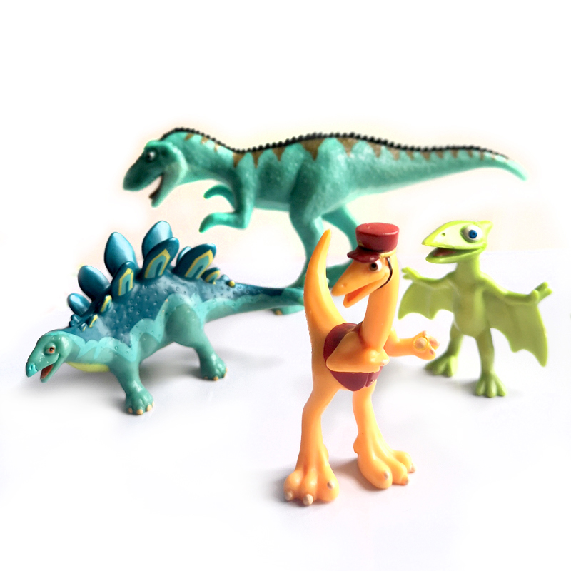 4pcs Dinosaur Model Dinosaur Train Toy Essential Dinosaur Dolls, Children's Educational Cognitive Toys Work Fine