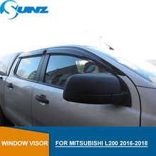 Car door visor For Mitsubishi L200 2016-2018 Window rain protector Triton 2016 2017 2018 accessories SUNZ