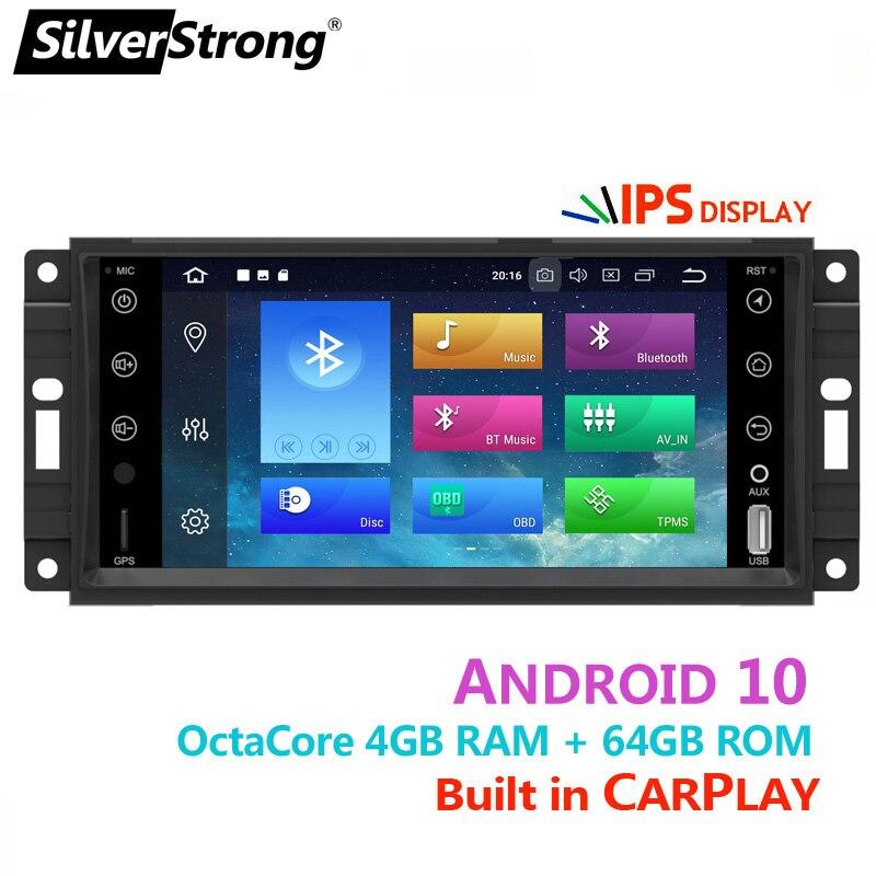 8Core 4GB/64GB,CarPlay,Android10 Car Radio GPS,for Jeep Cherokee 2009 2008 2010,Wrangler,Dodge,Chrysler