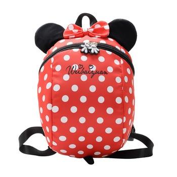 New Cartoon Minnie Mickey Children Backpacks Kids kindergarten Anti-lost Backpack Baby School Bags Satchel for Boys and Girls фото