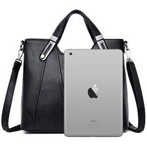 Image 4 - Luxury Soft Leather Handbag Women Bag Designer Female Crossbody Bag High Quality Famous Brand Shoulder Bags for Women Tote Bags