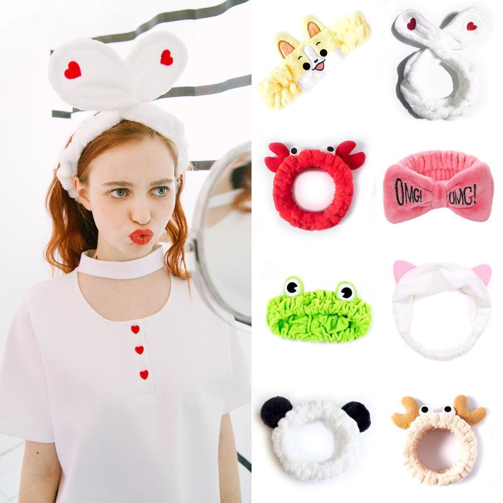 Women's Cute Fashion Girls Wash Makeup Headband Children Kids Hair Band Bow OMG Stretch Hair Band Hair Accessories Gite Gift