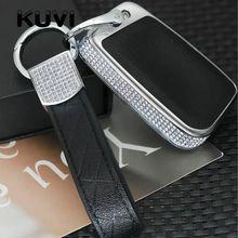 Alloy Leather Car Key Case Cover Holder For Skoda Superb A7 Volkwagen Passat B8 VW Golf Gte CC Styling Accessorise