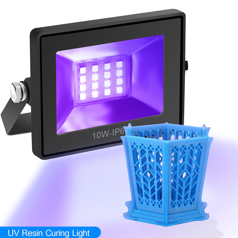 Высокое качество 110-260V 405nm УФ светодиодный смолы леча светильник для объект соглашения о качестве предоставляемых услуг DLP 3D-принтеры Фоточу...