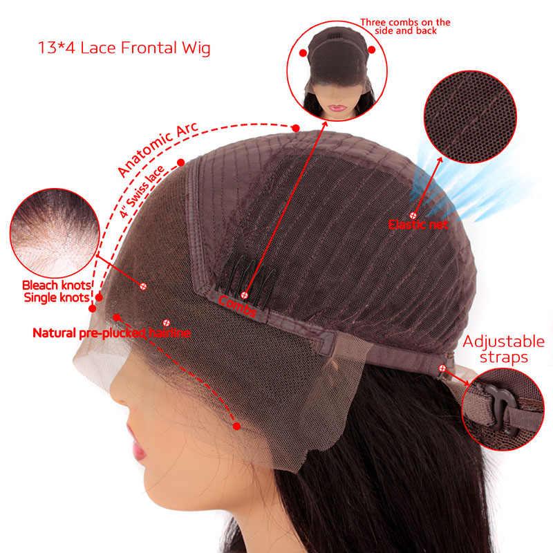 Глубокая часть Короткие вьющиеся человеческие волосы боб парики 150% влажные и волнистые 13*6 кружевные фронтальные парики бразильские волосы Remy с детскими волосами