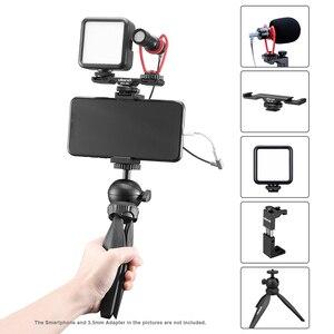 Image 2 - Ulanzi Vlog Living Stream Kit Youtube Kit Mini Tripod Phone Mount Record Microphone Kit Extend Tripod Vertical Shooting