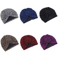 Flower Headband Decoration hijab Turban African Headtie Islam Muslim Head scarf Cap Scarf Hat Square Scarf Soft Beanie Headscarf