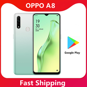 Image 1 - Original Oppo A8 Smart Phone Octa Core 2.3GHz MTK6765 6.5inch LCD 1600x720P 12MP Camera 4230mAh Cell Phone