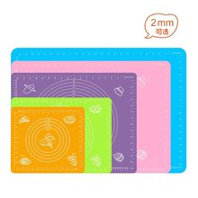 Non-stick Silicone Kneading Dough Mat Cookie Pastry Baking Pads Sheet Kitchen Table Mat Kneading Rolling Mat Baking Tools