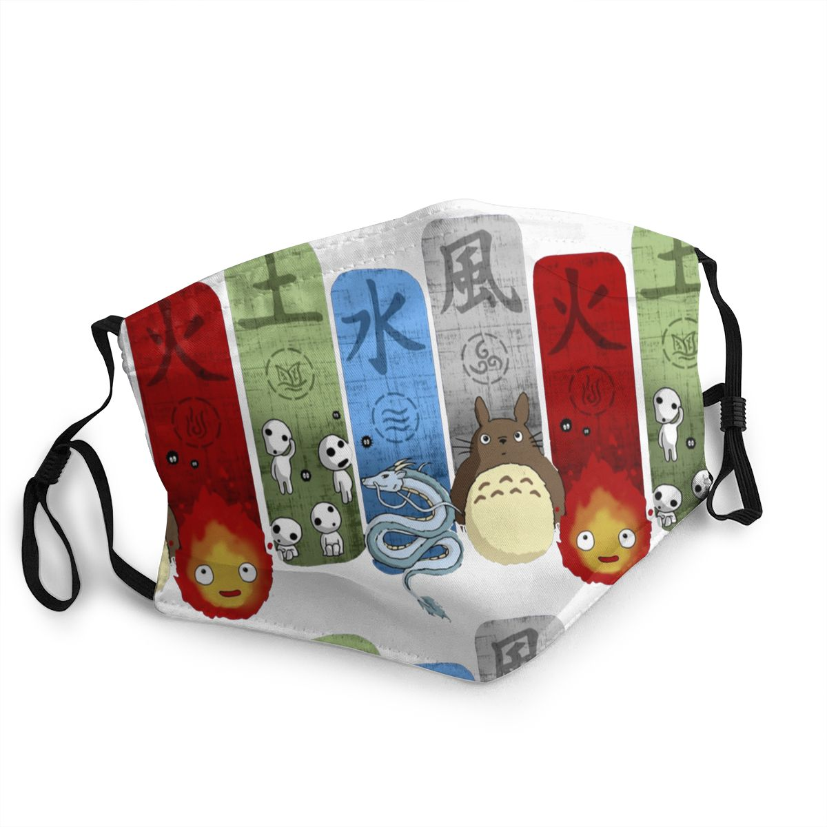 Studio Ghibli Reusable Mouth Face Mask Totoro Anime Anti Bacterial Dust Mask Protection Cover Respirator Mouth Muffle