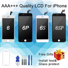AAA grade iPhone 6 6S 6Plus 6S Plus LCD display mit perfekte 3D touchscreen transcoder montage, geeignet für iPhone 6S display