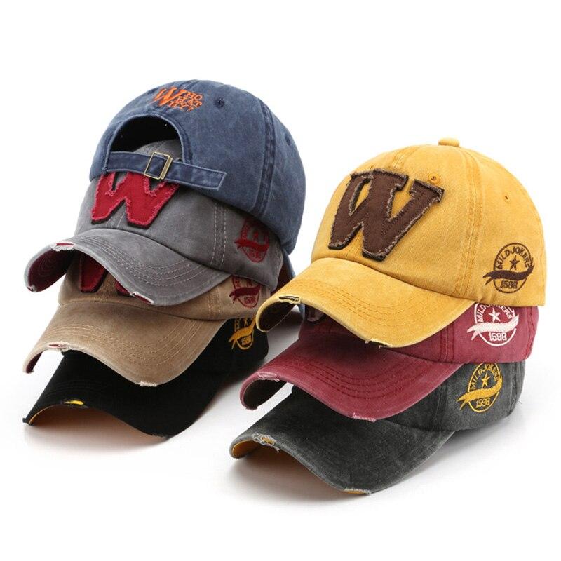 2020 Letter W Men's Baseball Caps Women's Cap Black Snapback Summer Baseball Caps Male Fisherman Hat For Men Trucker Bone MZ001