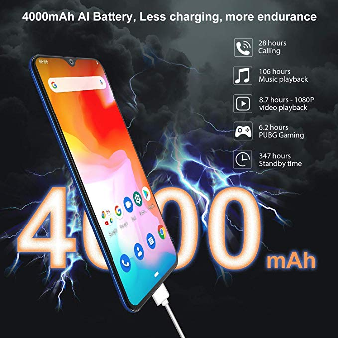 Cubot P30 Smartphone 6.3 2340x1080 p 4GB + 64GB Android 9.0 Pie Helio P23 AI caméras visage ID 4000mAh téléphone portable pour livraison directe - 6