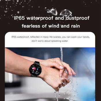 2019 Bluetooth Smart Watch Mans Bloeddruk rondom Smartwatch Women Watch Waterdigte Sport Tracker WhatsApp For Android Ios 1