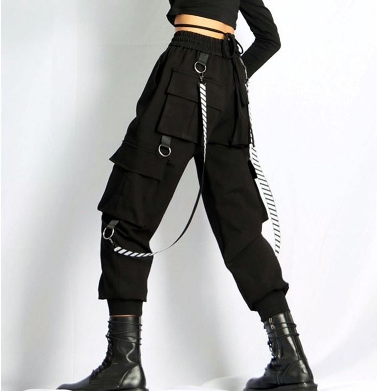 Fashion Women Ankle-length  Harem Pants Female Casual High Waist Drawstring Cargo Pants Ladies Plus Size Loose Trousers