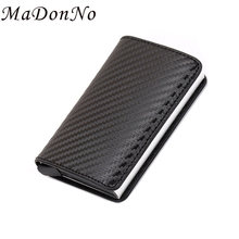 Rfid Card Money Clip Wallet Carbon Metal Slim Thin Male Bifold Dollar Wallet Men Pocket Cash Holder Money i clip Clutch Purses(China)