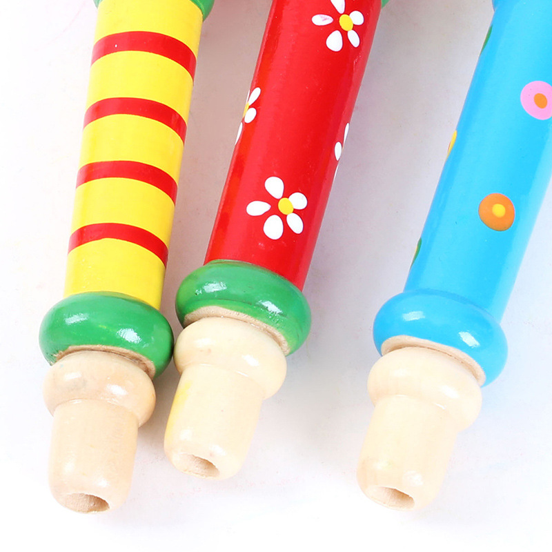 Wooden Small Speaker Children Flute Toy Kindergarten Music Area Educational Toy Wood Playing Whistle Instrument