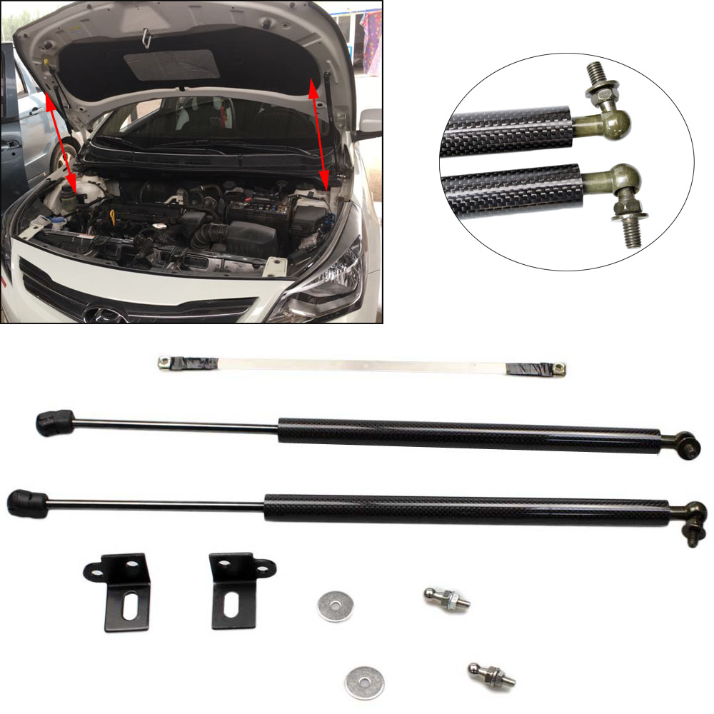 for Hyundai Accent Verna Solaris Excel  RB  2011-2018 Front Hood modify Refit Gas Spring Lift Supports Struts Rod Arm Shocks