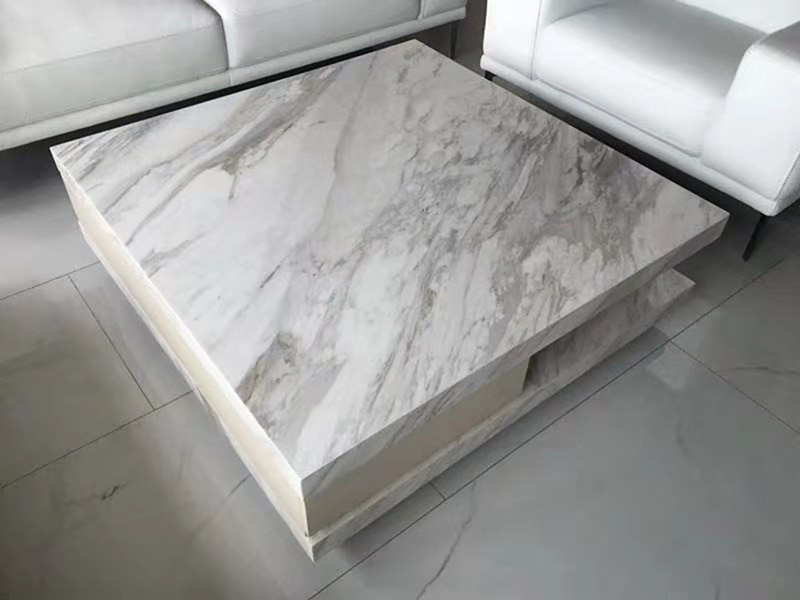 modern living room furniture white marble coffee table sofa square center table